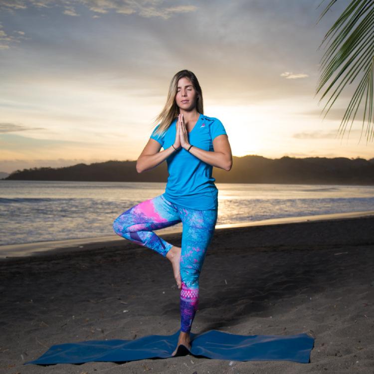 Yoga classes on the beach